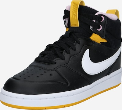 Nike Sportswear Tenisice 'COURT BOROUGH' u žuta / svijetloroza / crna, Pregled proizvoda