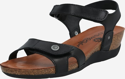 COSMOS COMFORT Sandały z rzemykami w kolorze czarnym, Podgląd produktu