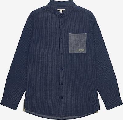 ESPRIT Langarmhemd in blau: Frontalansicht