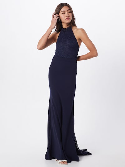 Missguided Večernja haljina 'BRIDESMAID' u plava / tamno plava: Prednji pogled