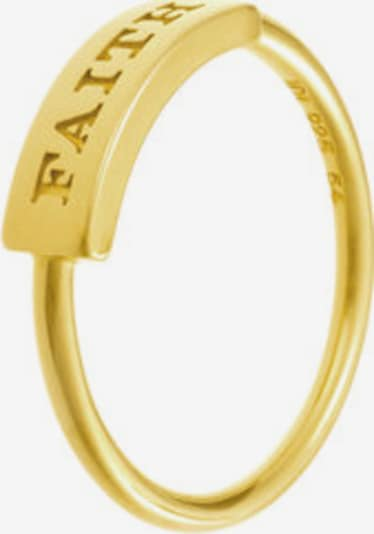 ID Fine Ring 'Faith' in gold: Frontalansicht