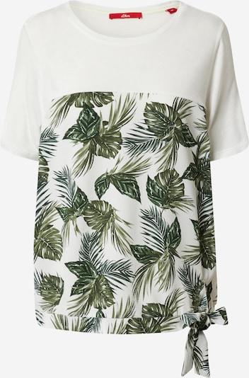 s.Oliver Shirt in grün / weiß, Produktansicht