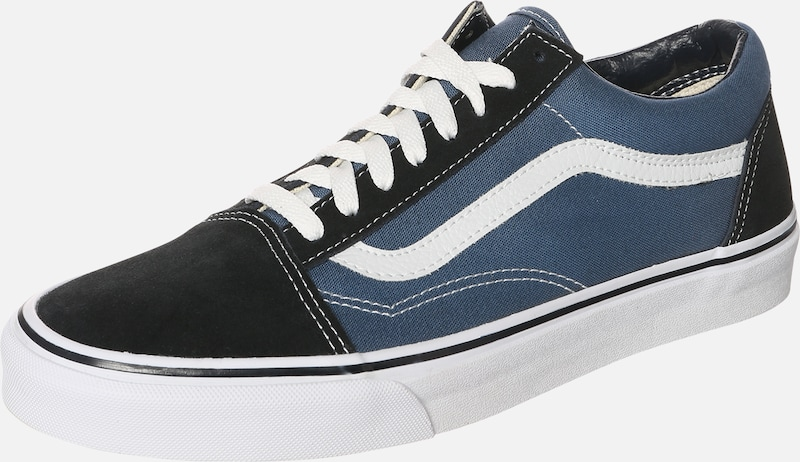 Skool' MarineNoir 'old En Baskets Bleu Blanc Basses Vans OPuTkXiZw