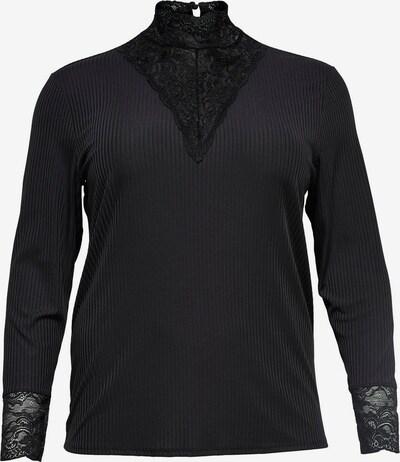 ONLY Carmakoma Shirt 'LACE HIGHNECK' in schwarz, Produktansicht