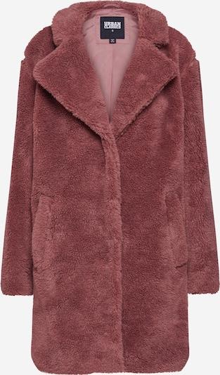 Urban Classics Manteau mi-saison 'Sherpa Coat' en rosé: Vue de face