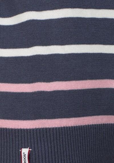 KangaROOS Streifenpullover in marine / pastellpink / weiß, Produktansicht