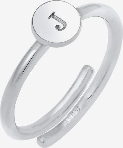 ELLI Ring Initial, Buchstabe - J in silber, Produktansicht