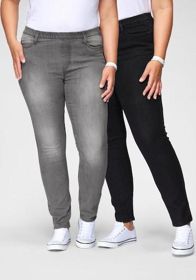 FLASHLIGHTS Jeansjeggings (Packung, 2er-Pack) in grau, Modelansicht