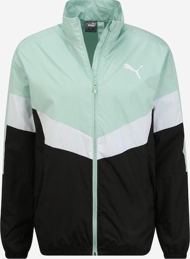 Jachetă de trening PUMA pe mentă / negru / alb, Vizualizare produs
