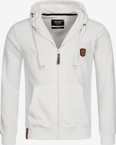 INDICODE JEANS Sweatvest 'Braidwood' in de kleur Wit, Productweergave