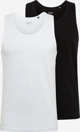BURTON MENSWEAR LONDON T-Shirt en noir / blanc, Vue avec produit
