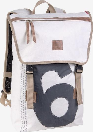 360 Grad Rucksack in schwarz / weiß, Produktansicht