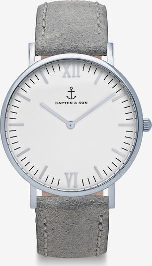 Kapten & Son Analoog horloge in de kleur Donkergrijs / Wit, Productweergave