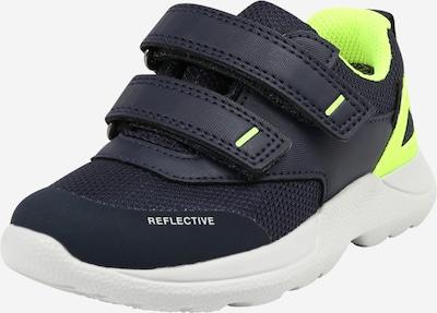 SUPERFIT Sneaker 'RUSH' in blau / neongelb, Produktansicht