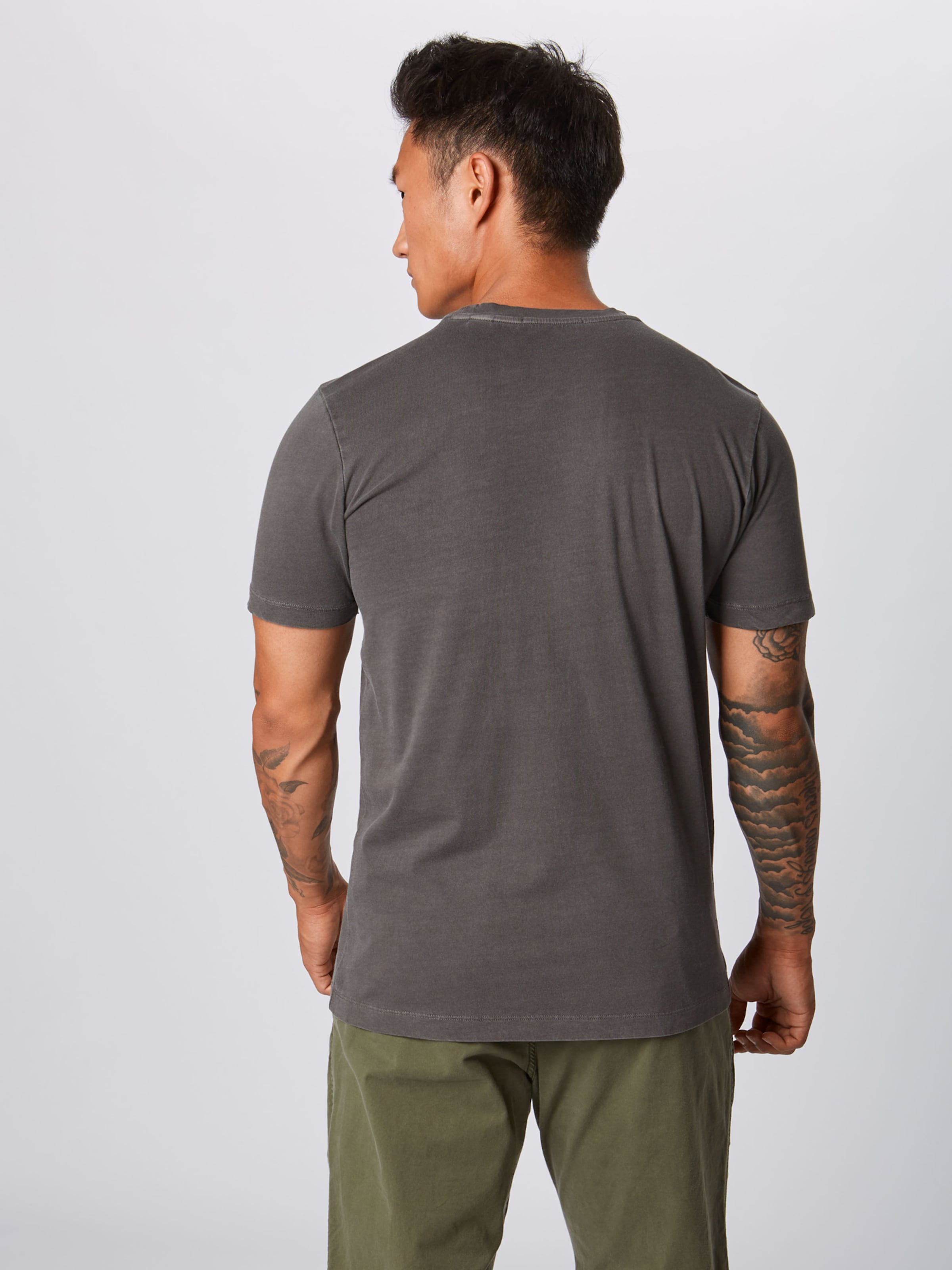 Anthrazit In Scotchamp; Soda dyed Crewneck 'classic Garment Tee' Shirt 6gf7yb