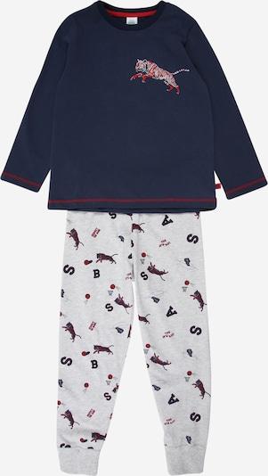 SANETTA Pyjama in navy / grau / rot, Produktansicht