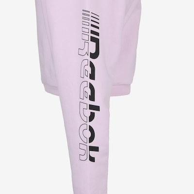 REEBOK Sweatshirt 'Workout Ready Meet You There' in rosa / rot / weiß: Frontalansicht