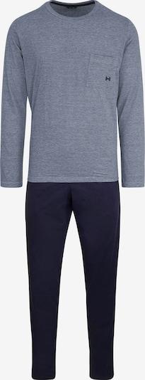 HOM Pyjama 'Comfort' in navy / taubenblau, Produktansicht