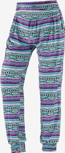 Pantaloni largi s.Oliver pe turcoaz / mov, Vizualizare produs