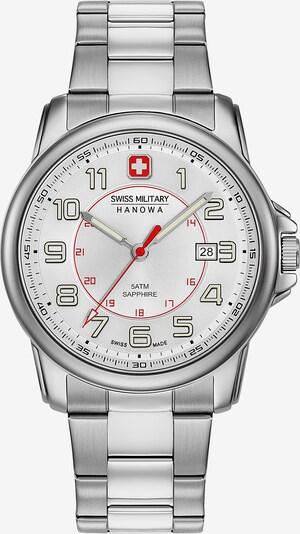 SWISS MILITARY HANOWA Uhr in rot / silber, Produktansicht