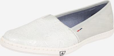 RIEKER Slipper in silbergrau / weiß, Produktansicht