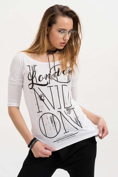 trueprodigy Shirt 'London Let's Go' in schwarz / weiß, Produktansicht