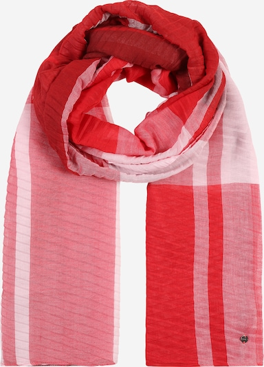 ESPRIT Tuch  'PlisseCheckScar' in orange / rosa / rot, Produktansicht