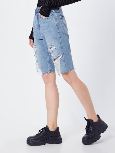 REPLAY Shorts in blue denim, Modelansicht
