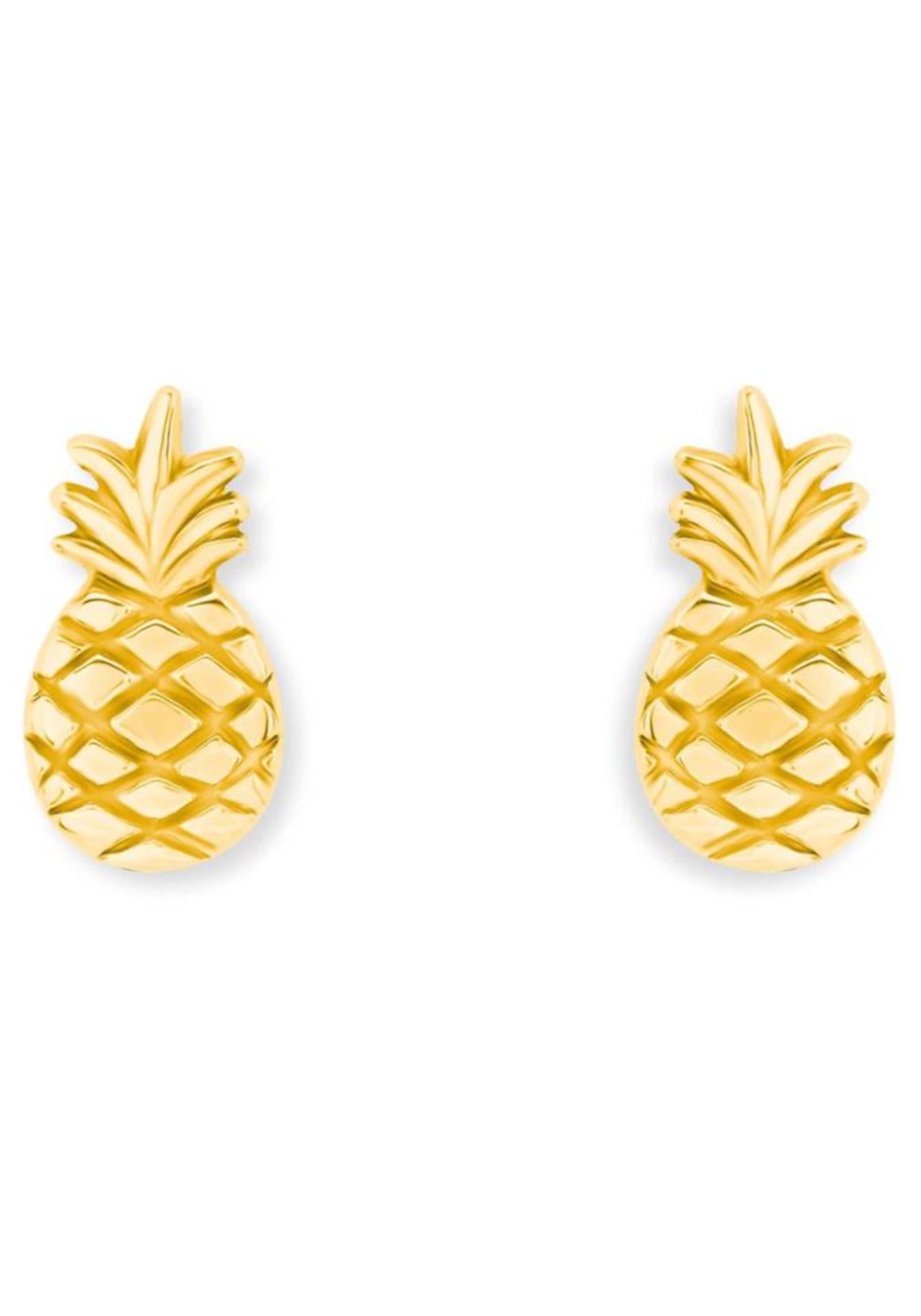 s.Oliver RED LABEL Paar Ohrstecker 'Ananas, 2019944'