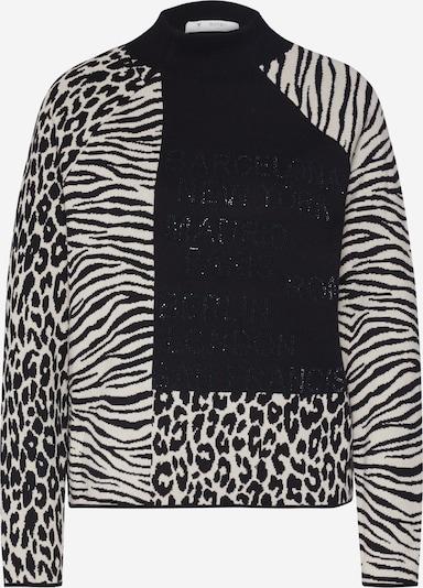 Pulover monari pe bej / negru, Vizualizare produs