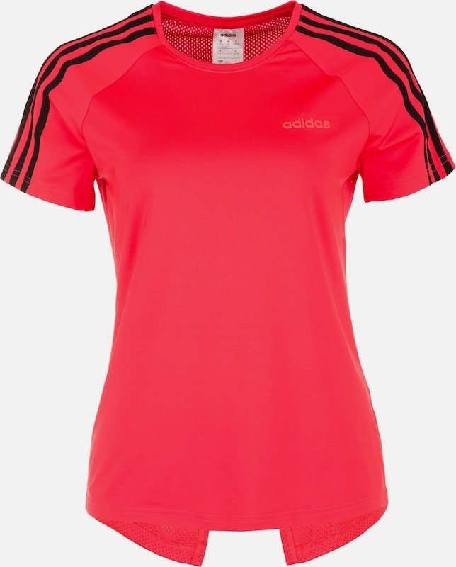 ADIDAS PERFORMANCE Funktionsshirt 'Designed To Move' in neonrot / schwarz: Frontalansicht