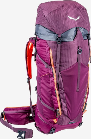 SALEWA Trekkingrucksack 'Alptrek 50 BP WS' in grau / lila, Produktansicht