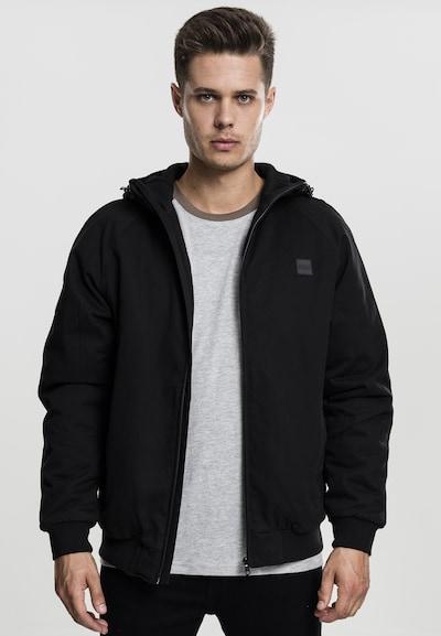 Urban Classics Hooded Jacket in schwarz: Frontalansicht
