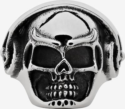 ZIPPO Ring Totenkopf Kopfhörer in silber, Produktansicht