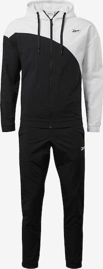 REEBOK Trainingsanzug in schwarz / weiß, Produktansicht