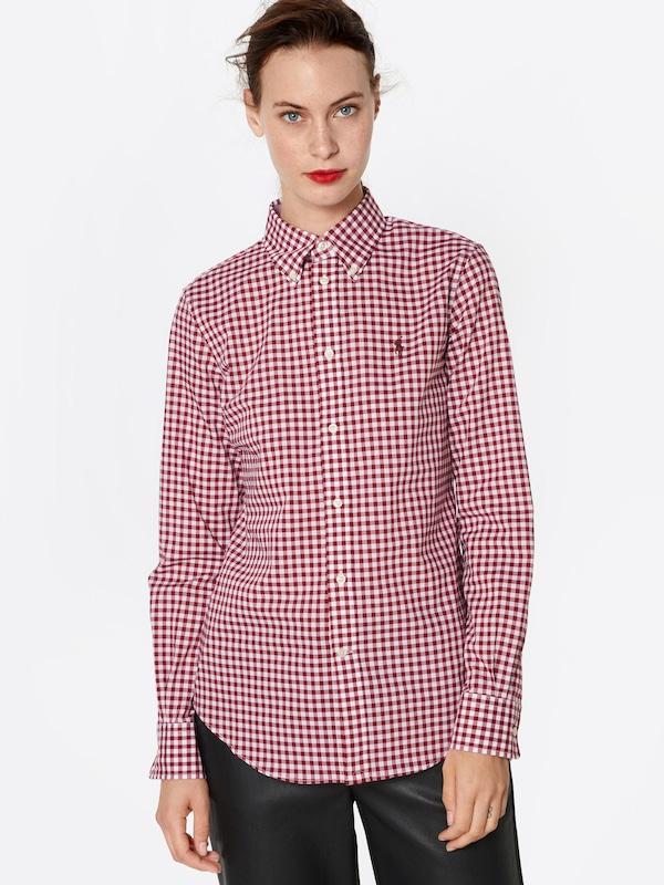 POLO RALPH LAUREN Blause Blause Blause in burgunder   offWeiß  Markenkleidung für Männer und Frauen ad0074