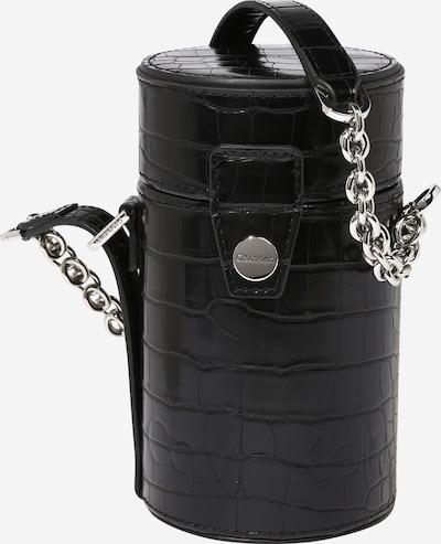 Calvin Klein Schoudertas 'DRUM CYLINDER CROSSBODY CROC' in de kleur Zwart, Productweergave
