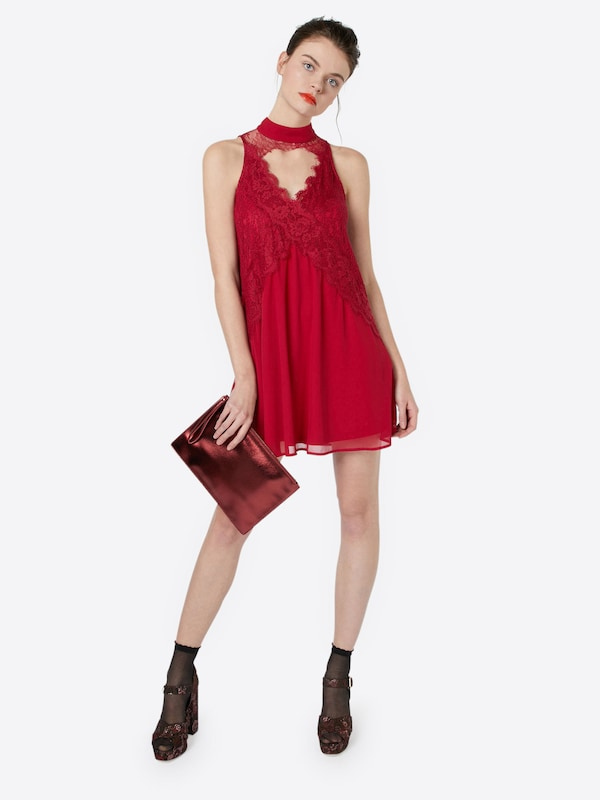 Boohoo Cocktailkleid 'Lace Swing Dress'