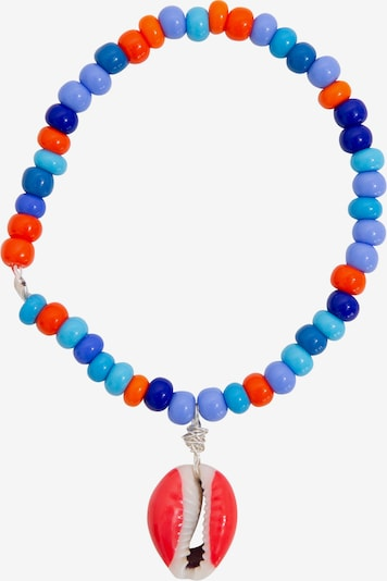 WALD for EDITED Pulsera 'Good Vibrations' en azul / naranja / rosa, Vista del producto