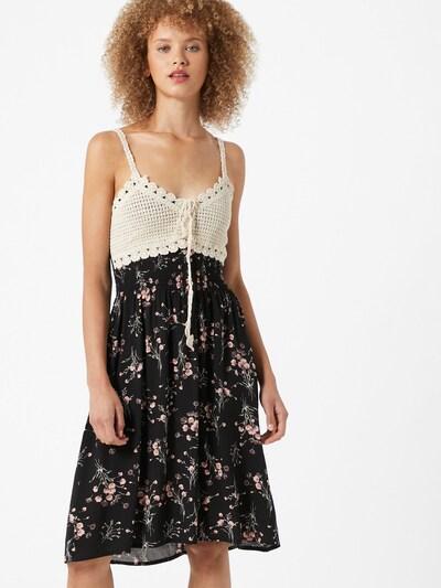 Hailys Kleid 'Kana' in creme / khaki / rosa / schwarz, Modelansicht