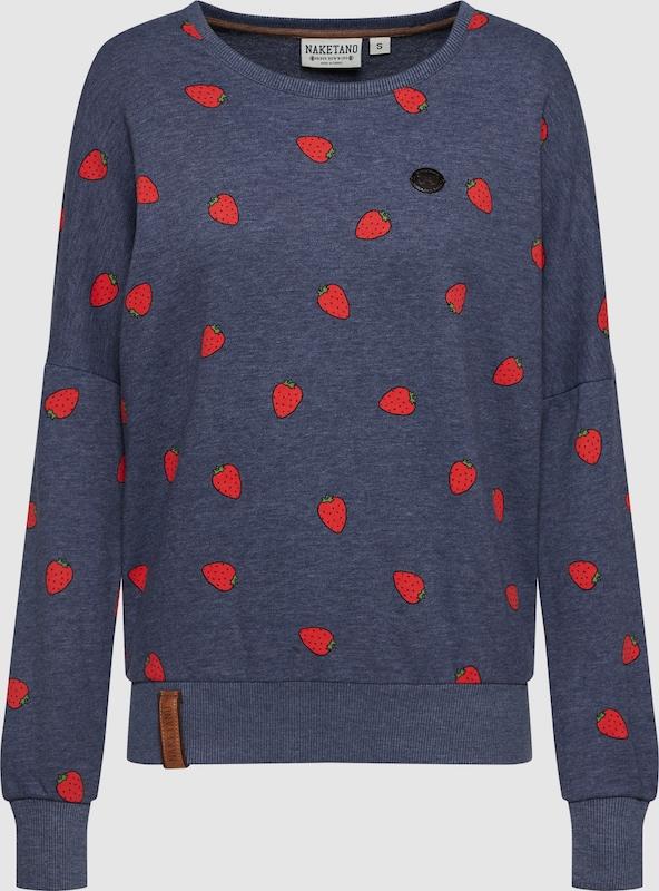 Naketano Sweatshirt in taubenblau   hellrot  Bequem und günstig