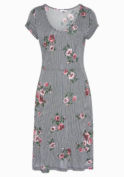 BEACH TIME Kleid in marine / mischfarben / weiß, Produktansicht