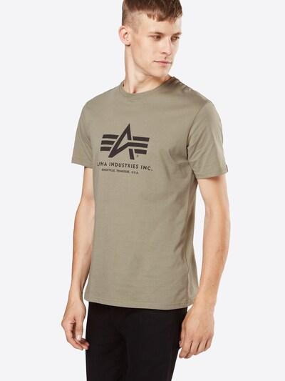 ALPHA INDUSTRIES Shirt in de kleur Olijfgroen: Vooraanzicht