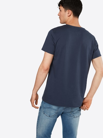 Tommy Jeans T-Shirt 'TJM ORIGINAL JERSEY' en bleu foncé: Vue de dos