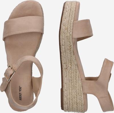 ABOUT YOU Sandale 'Josie' in beige: Seitenansicht