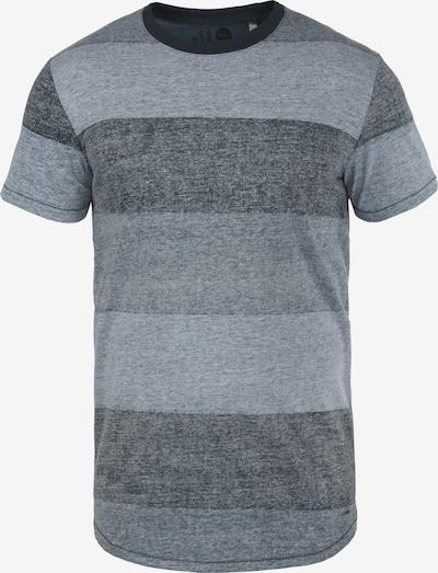 !Solid Rundhalsshirt 'Teine' in blau: Frontalansicht
