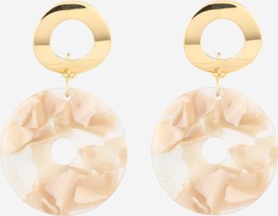 Fräulein Wunder Ohrringe 'Abia' in nude / gold, Produktansicht