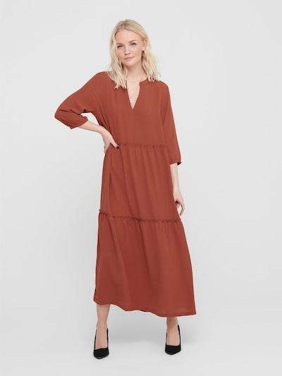 ONLY Kleid in rostrot: Frontalansicht