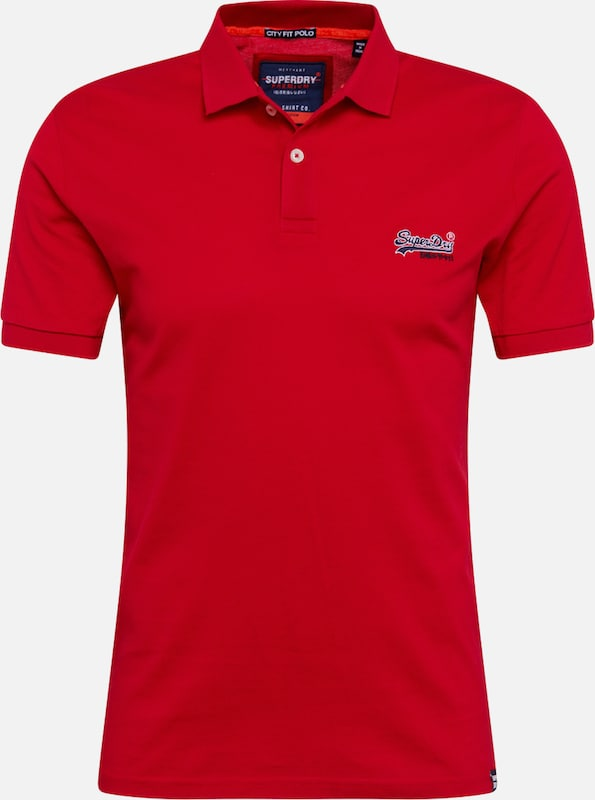 Superdry shirt Lite 'mercerised T En City' Rouge XOPuTZik