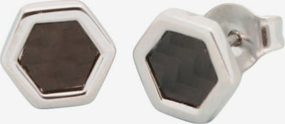 FIRETTI Ohrstecker in schwarz / silber, Produktansicht